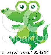 Cartoon Baby Green Crocodile