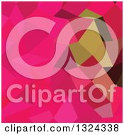 Clipart Of A Low Poly Abstract Geometric Background Of American Rose Royalty Free Vector Illustration