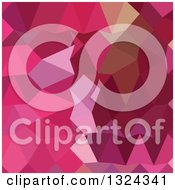 Clipart Of A Low Poly Abstract Geometric Background Of Brilliant Rose Pink Royalty Free Vector Illustration