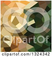Clipart Of A Low Poly Abstract Geometric Background Of Bronze Yellow Royalty Free Vector Illustration