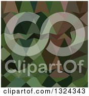 Clipart Of A Low Poly Abstract Geometric Background Of Castleton Green Royalty Free Vector Illustration