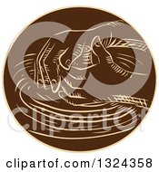 Clipart Of Retro Engraved Or Sketched Hands Shaping Clay On A Pottery Wheel Royalty Free Vector Illustration