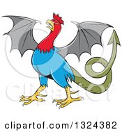 Clipart Of A Cartoon Basilisk Fantasy Creature Royalty Free Vector Illustration