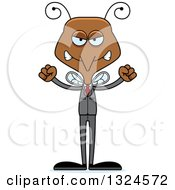 Clipart Of A Cartoon Angry Business Mosquito Royalty Free Vector Illustration by Cory Thoman