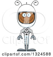 Clipart Of A Cartoon Happy Mosquito Astronaut Royalty Free Vector Illustration by Cory Thoman