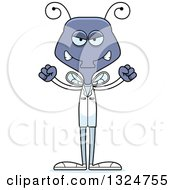 Clipart Of A Cartoon Mad Housefly Doctor Royalty Free Vector Illustration
