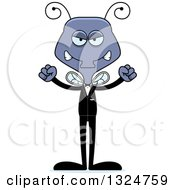 Clipart Of A Cartoon Mad Housefly Groom Royalty Free Vector Illustration