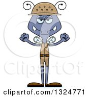 Clipart Of A Cartoon Mad Housefly Zookeeper Royalty Free Vector Illustration