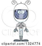 Clipart Of A Cartoon Happy Housefly Astronaut Royalty Free Vector Illustration