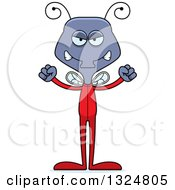 Clipart Of A Cartoon Mad Housefly In Pjs Royalty Free Vector Illustration