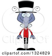Clipart Of A Cartoon Happy Housefly Circus Ringmaster Royalty Free Vector Illustration by Cory Thoman