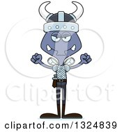 Clipart Of A Cartoon Mad Housefly Viking Royalty Free Vector Illustration by Cory Thoman