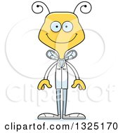 Clipart Of A Cartoon Happy Bee Doctor Royalty Free Vector Illustration