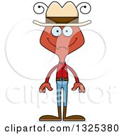 Clipart Of A Cartoon Happy Ant Cowboy Royalty Free Vector Illustration
