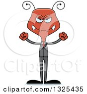 Clipart Of A Cartoon Mad Business Ant Royalty Free Vector Illustration by Cory Thoman