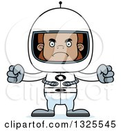 Clipart Of A Cartoon Mad Bigfoot Astronaut Royalty Free Vector Illustration