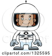 Clipart Of A Cartoon Happy Bigfoot Astronaut Royalty Free Vector Illustration