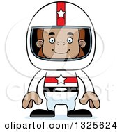 Clipart Of A Cartoon Happy Bigfoot Race Car Driver Royalty Free Vector Illustration by Cory Thoman