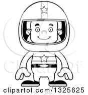 Clipart Of A Cartoon Happy Bigfoot Race Car Driver Royalty Free Vector Illustration