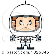 Clipart Of A Cartoon Mad Monkey Astronaut Royalty Free Vector Illustration