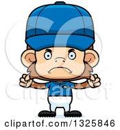 Poster, Art Print Of Cartoon Mad Monkey Baseball Player