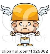 Clipart Of A Cartoon Mad Hermes Monkey Royalty Free Vector Illustration