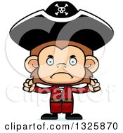 Clipart Of A Cartoon Mad Monkey Pirate Royalty Free Vector Illustration