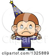 Clipart Of A Cartoon Mad Monkey Wizard Royalty Free Vector Illustration by Cory Thoman