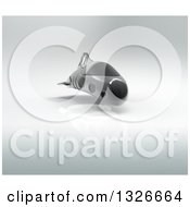 Clipart Of A 3d Futuristic Hover Vehicle Over Gray 3 Royalty Free Illustration