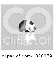 Clipart Of A 3d Futuristic Compact Self Driving Car On Gray 7 Royalty Free Illustration by Julos