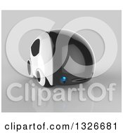 Clipart Of A 3d Futuristic Compact Self Driving Car On Gray 9 Royalty Free Illustration by Julos