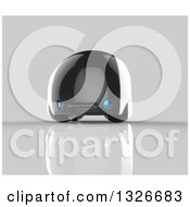 Clipart Of A 3d Futuristic Compact Self Driving Car On Gray 6 Royalty Free Illustration by Julos