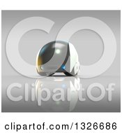 Clipart Of A 3d Futuristic Compact Self Driving Car On Gray 2 Royalty Free Illustration by Julos