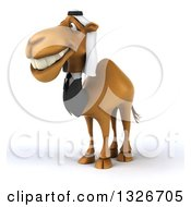 Clipart Of A 3d Arabian Business Camel Facing Left And Smiling Royalty Free Illustration by Julos