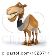 Clipart Of A 3d Business Camel Grinning And Facing Slightly Left Royalty Free Illustration