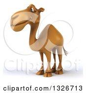 Clipart Of A 3d Camel Facing Slightly Left Royalty Free Illustration