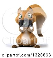 Clipart Of A 3d Squirrel Holding A Camera And Taking Pictures Royalty Free Illustration by Julos