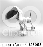 Clipart Of A 3d Robot Dog Walking On Gray 3 Royalty Free Illustration by Julos