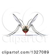 Clipart Of A 3d Happy Mosquito Royalty Free Illustration by Julos