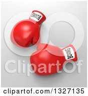 Clipart Of 3d Red Boxing Gloves Over Gray 2 Royalty Free Illustration