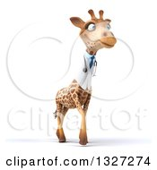 Clipart Of A 3d Happy Doctor Or Veterinary Giraffe Facing Slightly Right Royalty Free Illustration by Julos