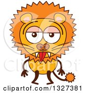 Clipart Of A Cartoon Indifferent Male Lion Royalty Free Vector Illustration by Zooco