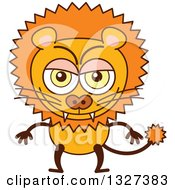 Clipart Of A Cartoon Naughty Male Lion Royalty Free Vector Illustration by Zooco