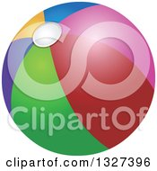 Clipart Of A Cartoon Colorful Beach Ball Royalty Free Vector Illustration