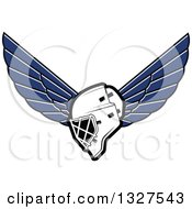 Clipart Of A Winged Ice Hockey Mask Royalty Free Vector Illustration
