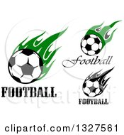 Soccer Balls With Text And Flames