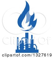 Clipart Of A Blue Natural Gas And Flame Design 11 Royalty Free Vector Illustration