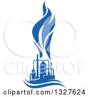 Clipart Of A Blue Natural Gas And Flame Design 13 Royalty Free Vector Illustration
