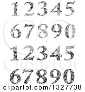 Clipart Of Black And White Floral Patterned Numbers Royalty Free Vector Illustration by Vector Tradition SM