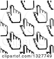 Clipart Of A Seamless Background Pattern Of Grayscale Hand Cursors Royalty Free Vector Illustration by Vector Tradition SM